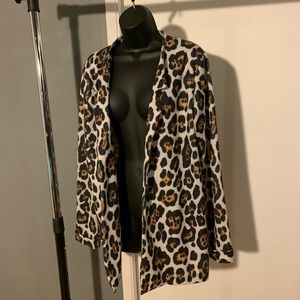 like new ASOS cream leopard jacket/cover up (6/$14